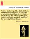 Festive Gathering Of The Early Settlers And Present Inhabitants Of The Town Of Virgil Cortland County NY Held  On Thursday The 25th Day Of August 1853 Embracing A Historic Sketch Of The Town By Nathan Bouton