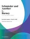Schmieder And Another V Barney
