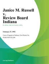Janice M. Russell V. Review Board Indiana