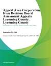 Appeal Avco Corporation From Decision Board Assessment Appeals Lycoming County Lycoming County