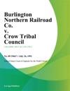 Burlington Northern Railroad Co V Crow Tribal Council