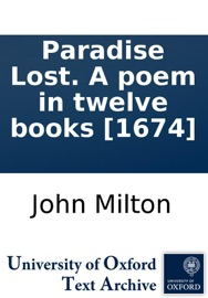 Paradise Lost A Poem In Twelve Books 1674