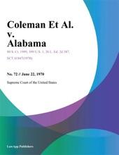 Coleman Et Al. v. Alabama