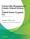 Clarksville-Montgomery County School System V United States Gypsum Co