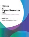 Syrovy V Alpine Resources Inc