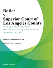 Butler v. Superior Court of Los Angeles County