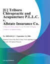 Triboro Chiropractic And Acupuncture PLLC V Allstate Insurance Co