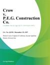 Crow V PEG Construction Co