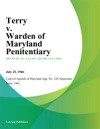 Terry V Warden Of Maryland Penitentiary