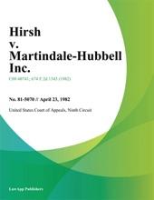 Hirsh v. Martindale-Hubbell Inc.