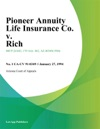 Pioneer Annuity Life Insurance Co V Rich