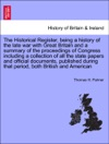 The Historical Register Being A History Of The Late War With Great Britain And A Summary Of The Proceedings Of Congress Vol I