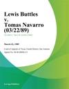 Lewis Buttles V Tomas Navarro