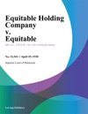 Equitable Holding Company V Equitable