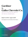 Gardiner V Galles Chevrolet Co