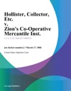 Hollister Collector Etc V Zions Co-Operative Mercantile Inst