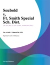 Seubold V Ft Smith Special Sch Dist