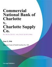 Commercial National Bank Of Charlotte V. Charlotte Supply Co.