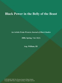 BLACK POWER IN THE BELLY OF THE BEAST