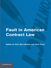 Fault in American Contract Law by Omri Ben-Shahar & Ariel Porat on Apple  Books