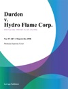 Durden V Hydro Flame Corp
