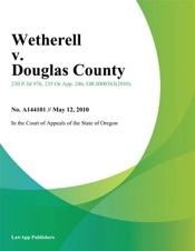 Download and Read Online Wetherell v. Douglas County