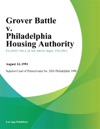 Grover Battle V Philadelphia Housing Authority