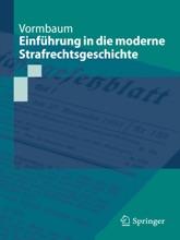 Einführung In Die Moderne Strafrechtsgeschichte