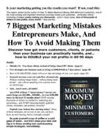 7 Biggest Marketing Mistakes Entrepreneurs Make
