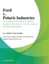Ford v. Polaris Industries