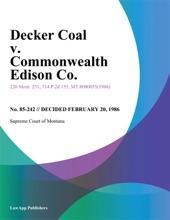 Decker Coal V. Commonwealth Edison Co.