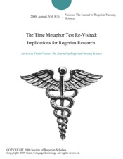 Download and Read Online The Time Metaphor Test Re-Visited: Implications for Rogerian Research.