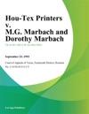 Hou-Tex Printers V MG Marbach And Dorothy Marbach