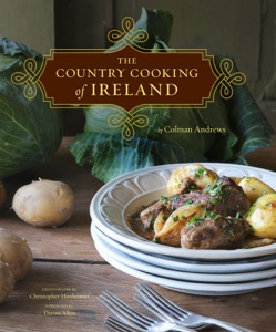 The Country Cooking of Ireland by Colman Andrews Book Cover