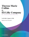 Therese Marie Collins V Eli Lilly Company
