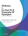 Mchenry V La Soci Et E Francaise D Epargnes