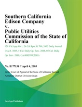 Southern California Edison Company v. Public Utilities Commission of the State of California