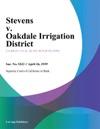 Stevens V Oakdale Irrigation District