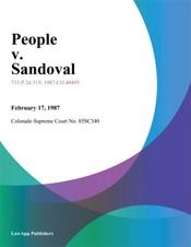 Download and Read Online People v. Sandoval