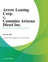 Arrow Leasing Corp V Cummins Arizona Diesel Inc