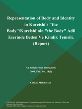Representation of Body and Identity in Kureishi's