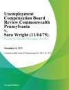 Unemployment Compensation Board Review Commonwealth Pennsylvania V Sara Wright