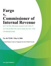 Fargo v. Commissioner of Internal Revenue