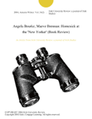 Angela Bourke, Maeve Brennan: Homesick at the 'New Yorker' (Book Review)