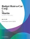 Budget Rent-A-Car Corp V Martin