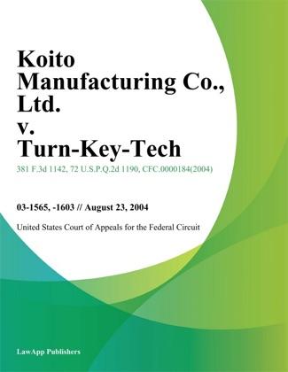 Koito Manufacturing Co., Ltd. v. Turn-Key-Tech, LLC image