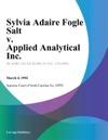 Sylvia Adaire Fogle Salt V Applied Analytical Inc