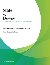 Download and Read Online State v. Dewey