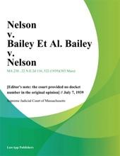 Nelson V. Bailey Et Al. Bailey V. Nelson