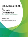 Sol A Dann Et Al V Chrysler Corporation